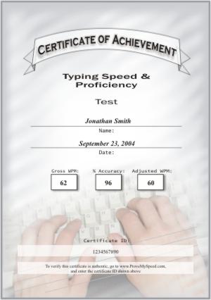 Certificate Samples